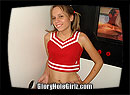 Teen Cheerleader Blowing Total Strangers in the Gloryhole