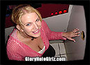 Gloryhole Blowjob Record Chel Sucks Off and Swallows 18 Cocks