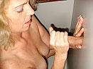 Mature Blonde Stroking Cock
