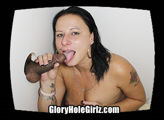 jeanette Sucking Cock at the Glory Hole