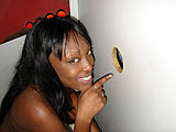 Ebony Mama in the Gloryhole booth